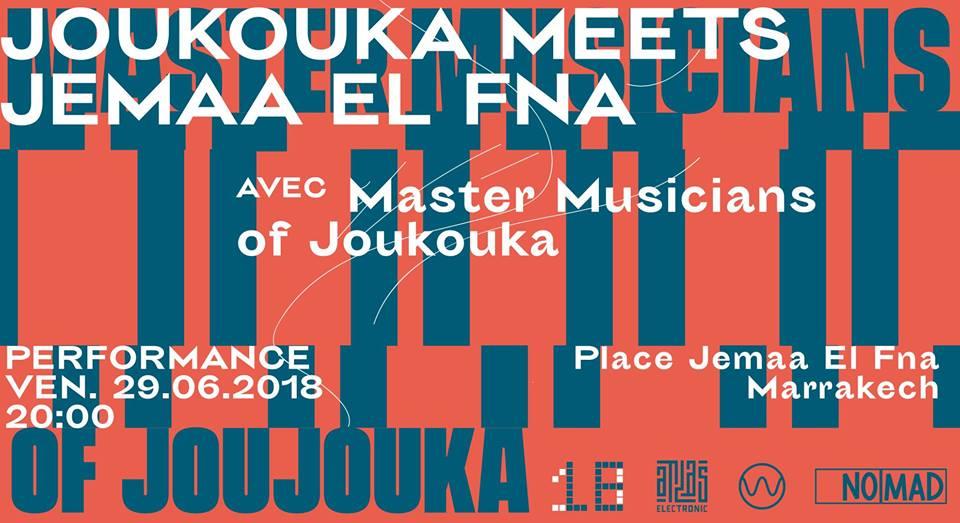 MMOJ Atlas Electronic Marrakech Djemaa El Fna poster