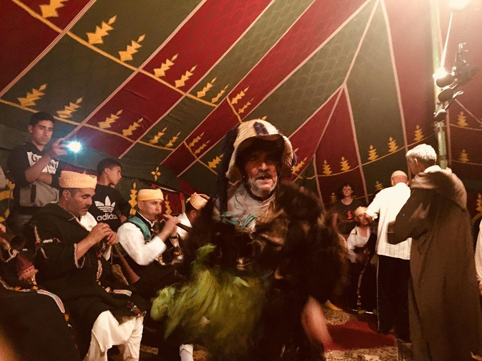 Boujeloud at Master Musicians of Joujouka Festival, June 2018 - photo Frank Rynne