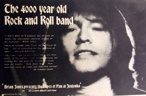 Melody Maker ad for the Master Musicians Of Joujouka album Brian Jones Presents The Pipes Of Pan At Joujouka