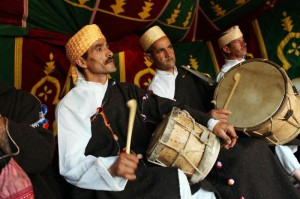 Master Musicians of Joujouka playing drums in the village
